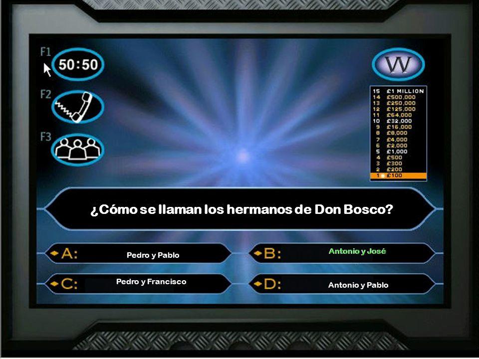 ¿Cómo se llaman los hermanos de Don Bosco