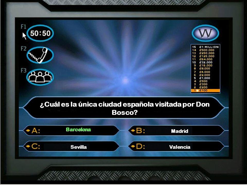 ¿Cuál es la única ciudad española visitada por Don Bosco