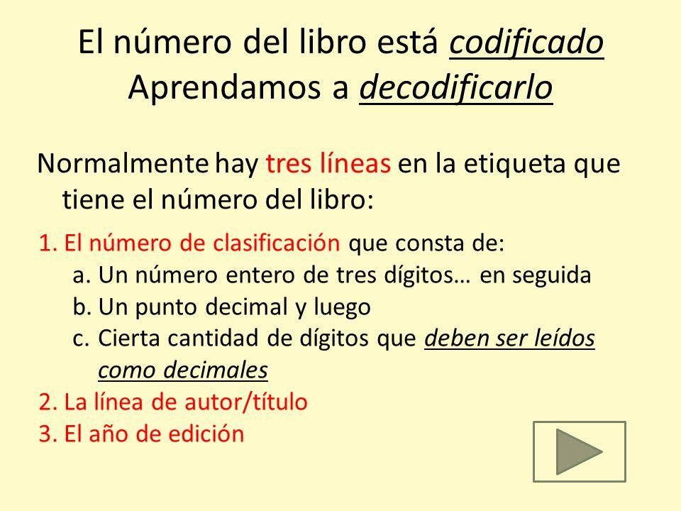 El número del libro está codificado Aprendamos a decodificarlo