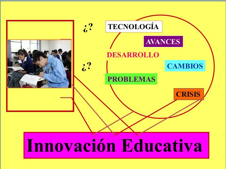 Innovación Educativa ¿ ¿ TECNOLOGÍA AVANCES DESARROLLO CAMBIOS