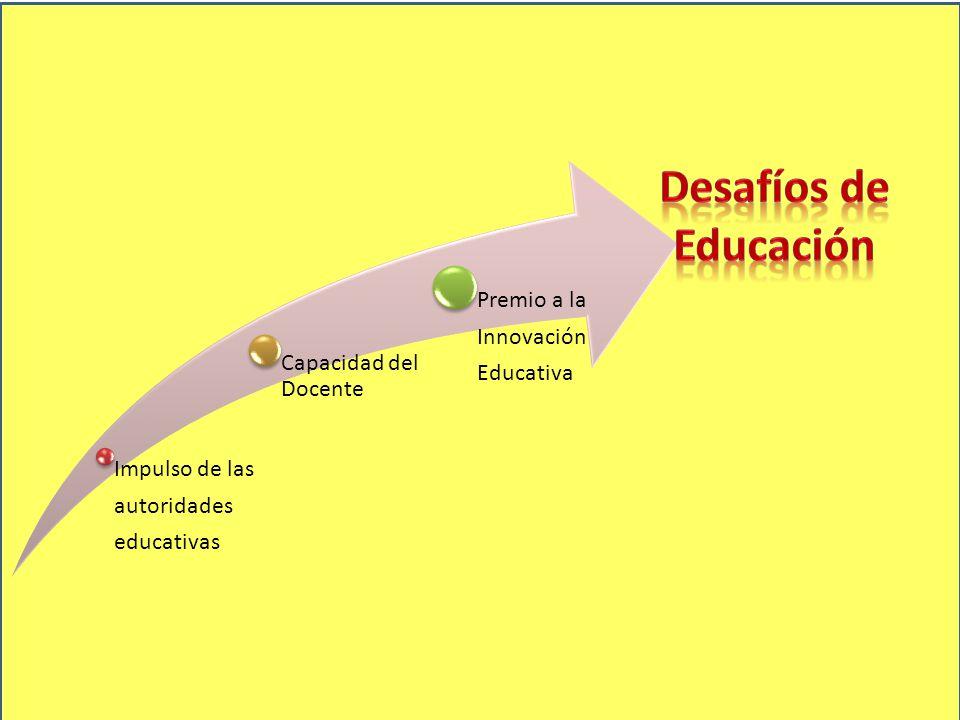Desafíos de Educación educativas autoridades Impulso de las