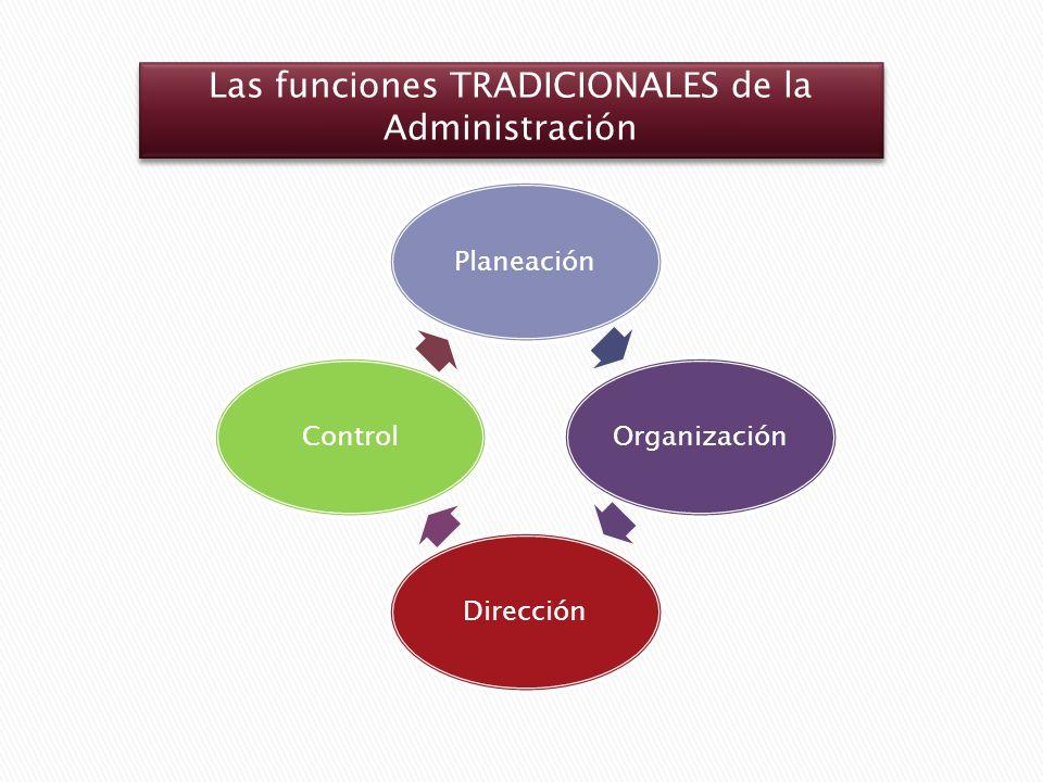 Las funciones TRADICIONALES de la Administración