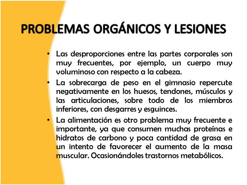 PROBLEMAS ORGÁNICOS Y LESIONES