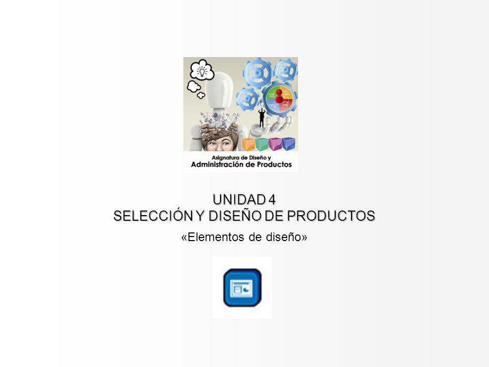 UNIDAD 4 SELECCIÓN Y DISEÑO DE PRODUCTOS