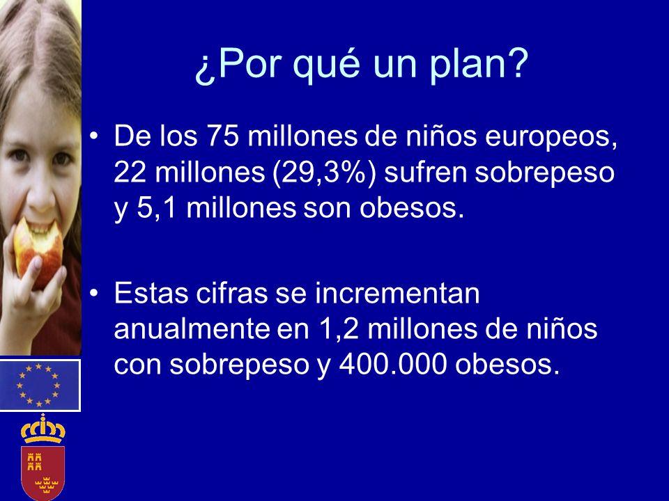 ¿Por qué un plan De los 75 millones de niños europeos, 22 millones (29,3%) sufren sobrepeso y 5,1 millones son obesos.