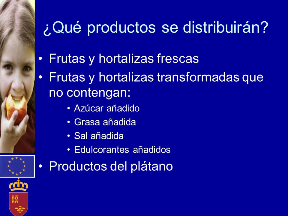¿Qué productos se distribuirán