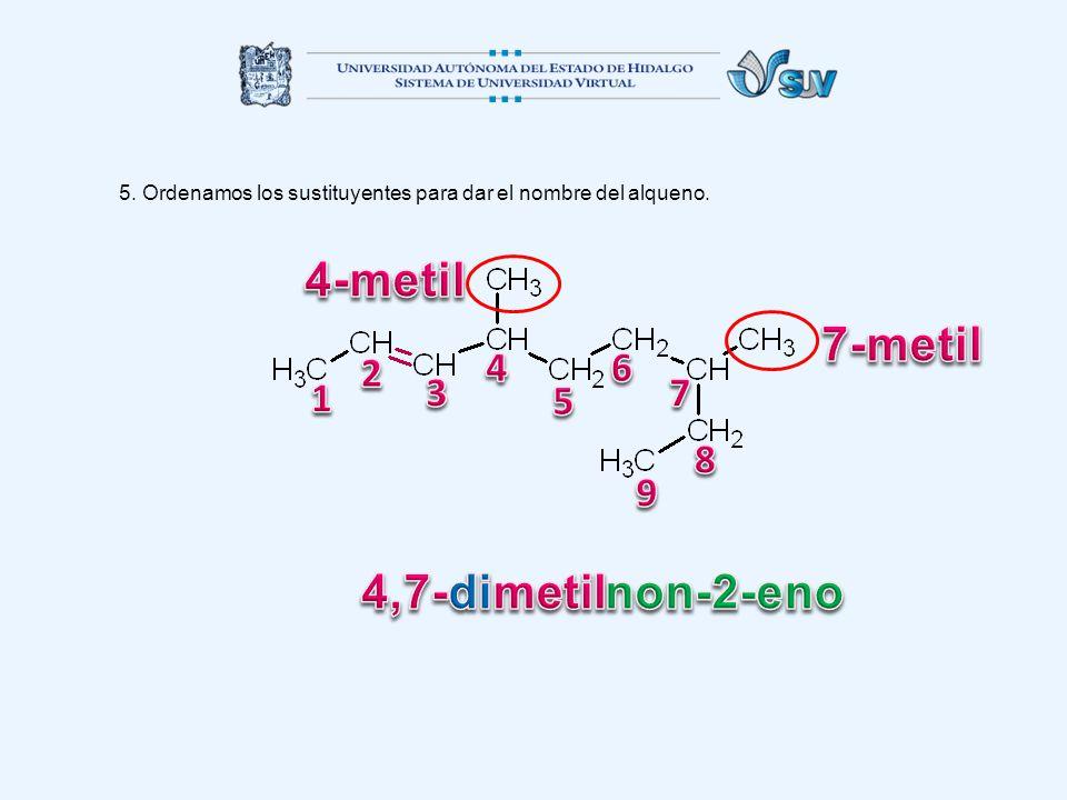 4-metil 7-metil 4,7-dimetil non-2-eno