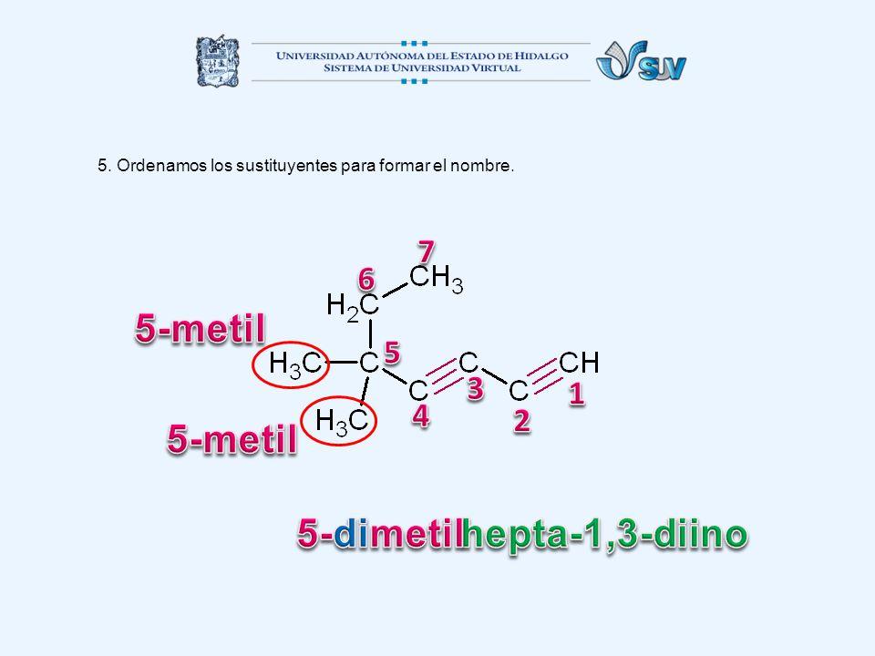 5-metil 5-metil 5-dimetil hepta-1,3-diino