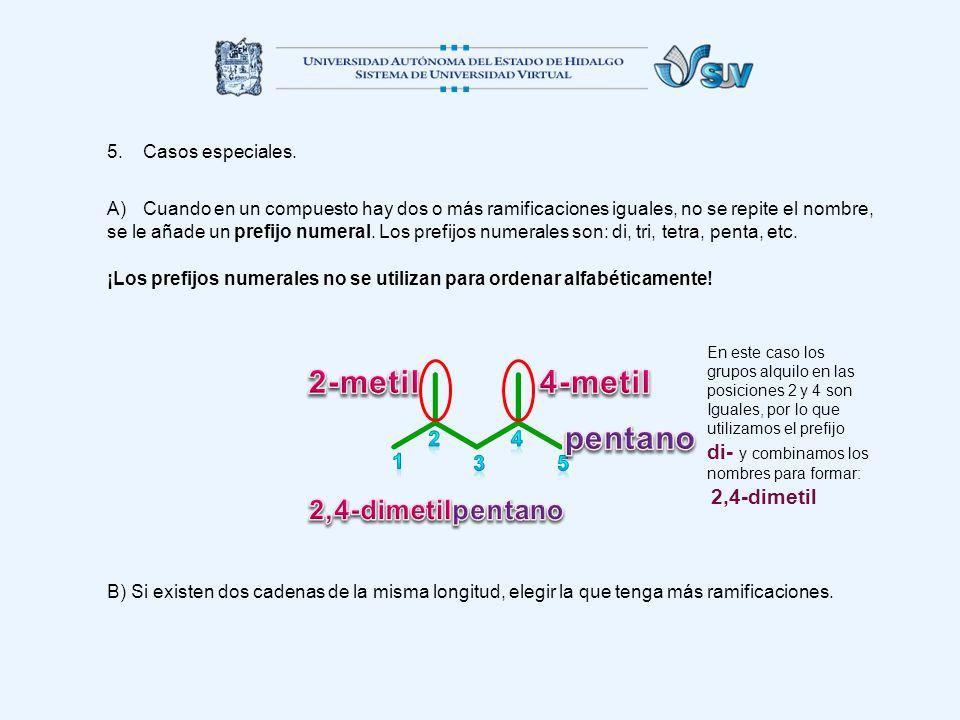 2-metil 4-metil pentano 2,4-dimetil pentano di- y combinamos los 2 4 1