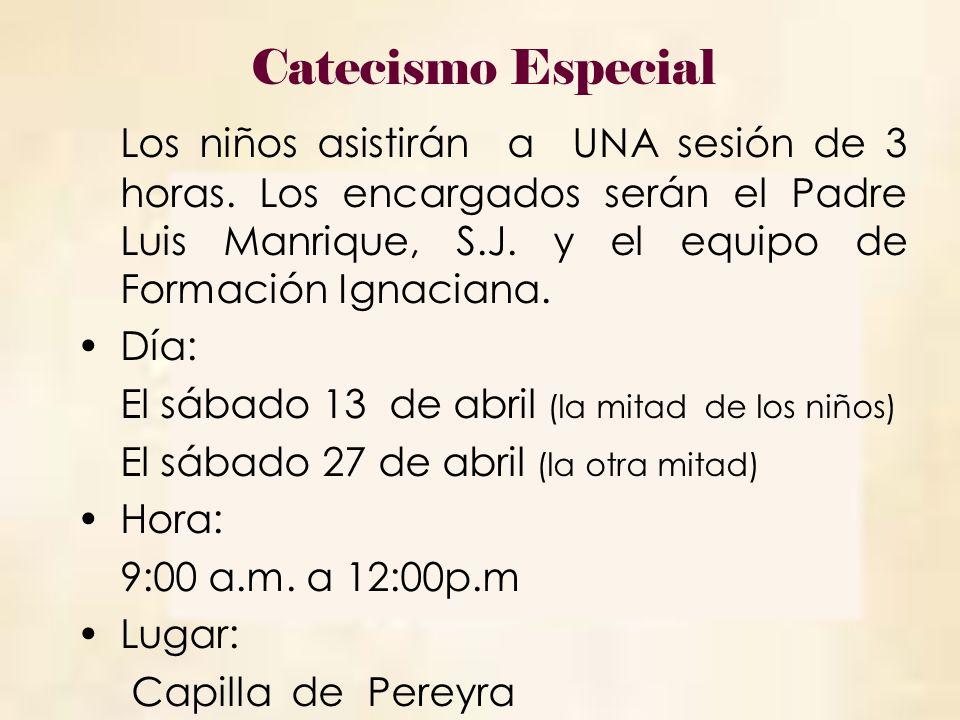 Catecismo Especial
