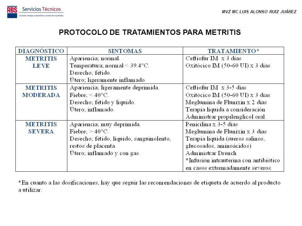 PROTOCOLO DE TRATAMIENTOS PARA METRITIS