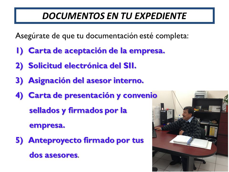DOCUMENTOS EN TU EXPEDIENTE