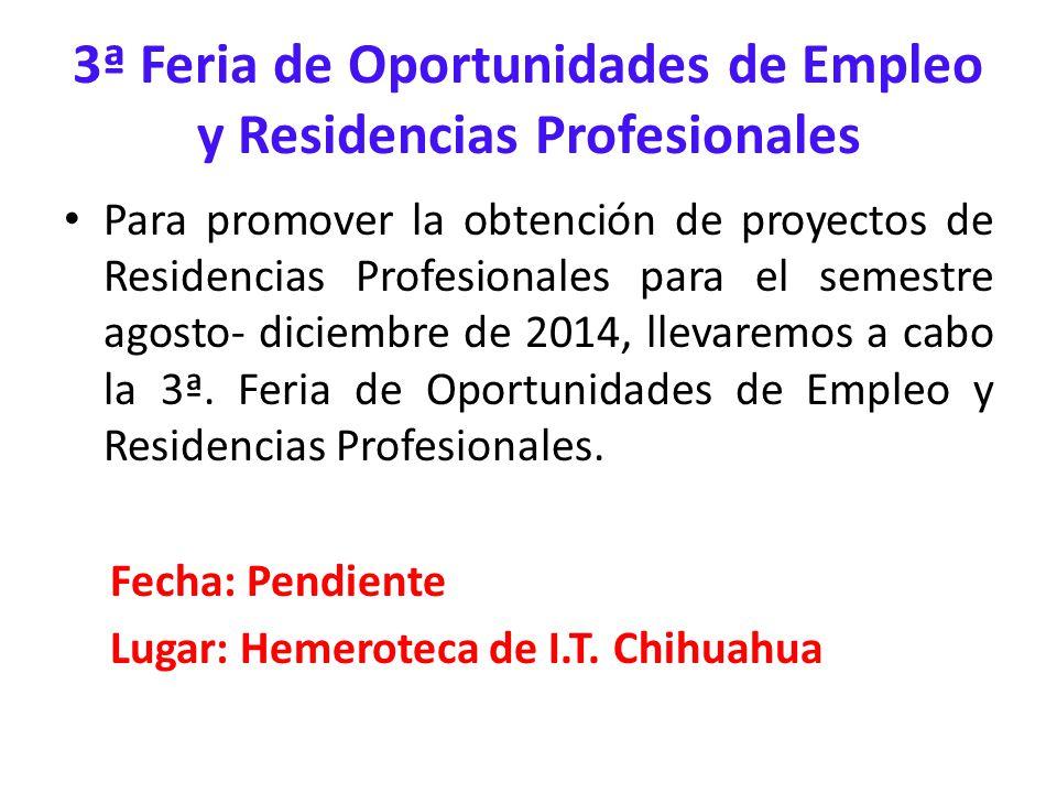 3ª Feria de Oportunidades de Empleo y Residencias Profesionales