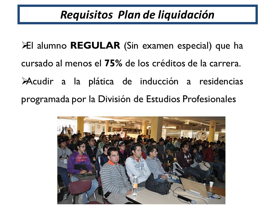 Requisitos Plan de liquidación