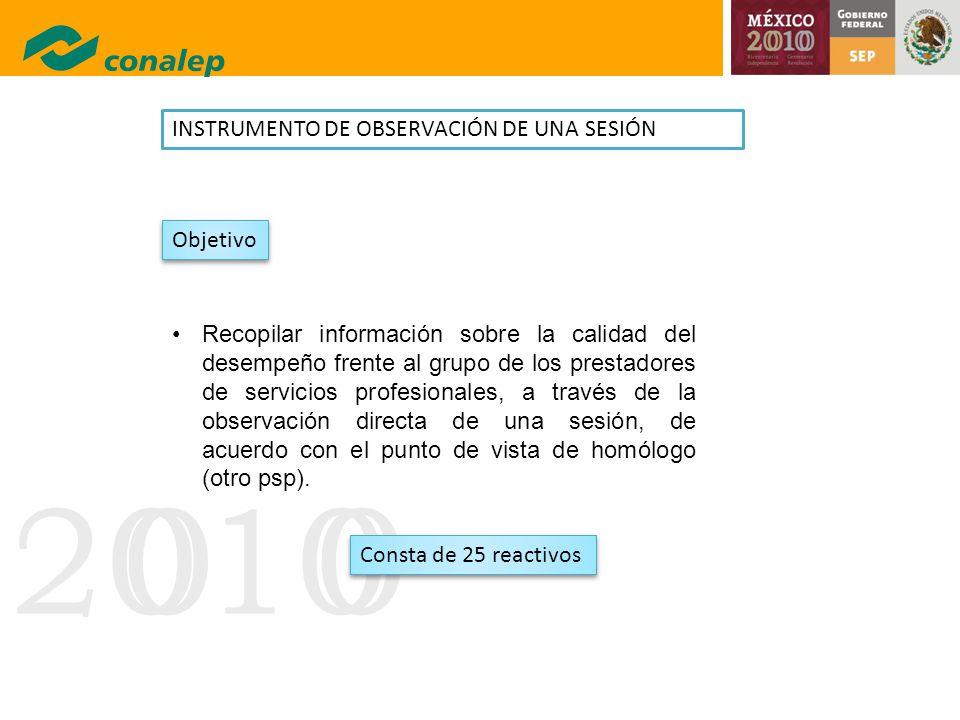INSTRUMENTO DE OBSERVACIÓN DE UNA SESIÓN