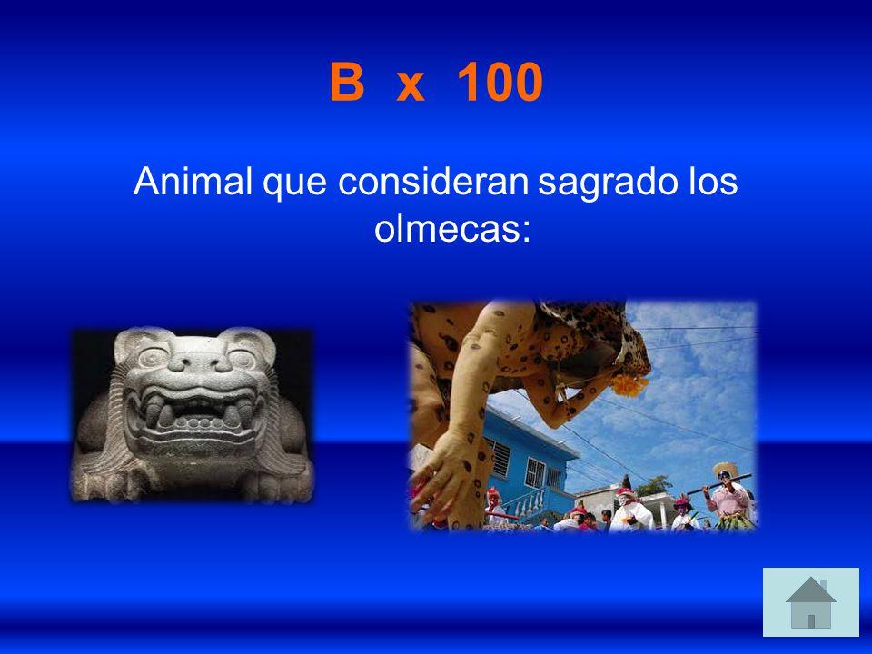 Animal que consideran sagrado los olmecas: