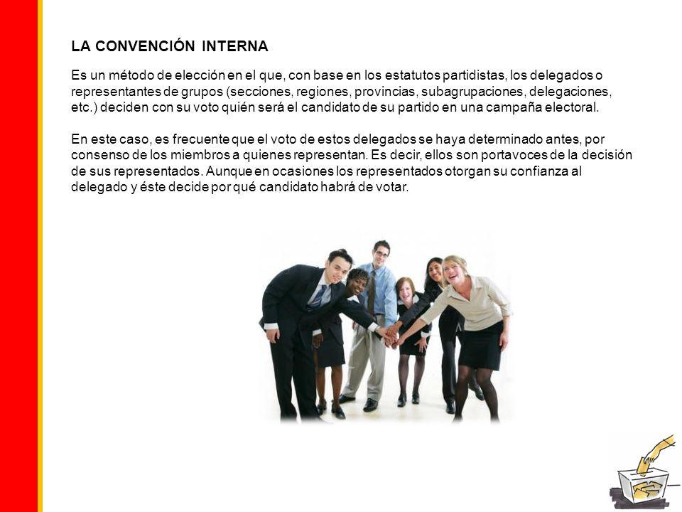 LA CONVENCIÓN INTERNA