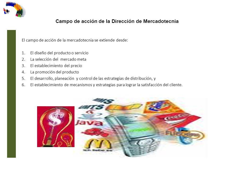 Campo de acción de la Dirección de Mercadotecnia