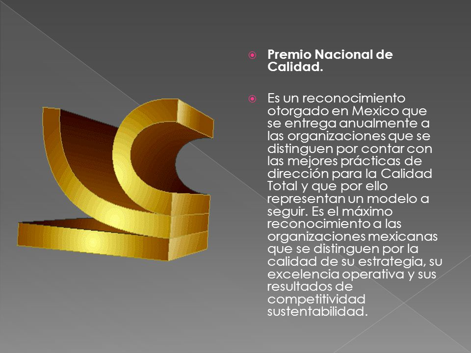Premio Nacional de Calidad.