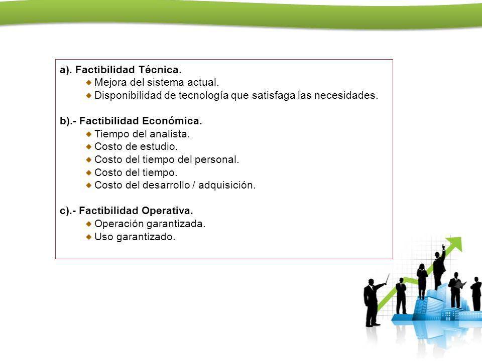 a). Factibilidad Técnica.