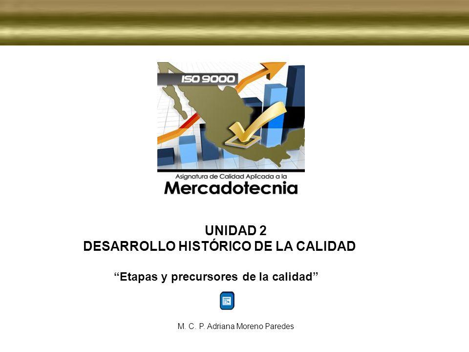 UNIDAD 2 DESARROLLO HISTÓRICO DE LA CALIDAD