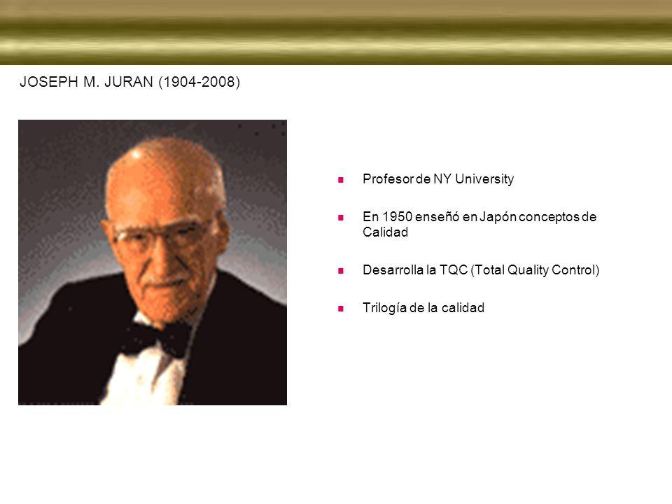 JOSEPH M. JURAN (1904-2008) Profesor de NY University