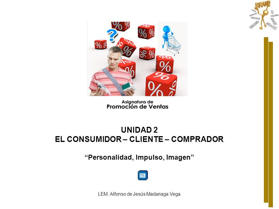 EL CONSUMIDOR – CLIENTE – COMPRADOR Personalidad, Impulso, Imagen