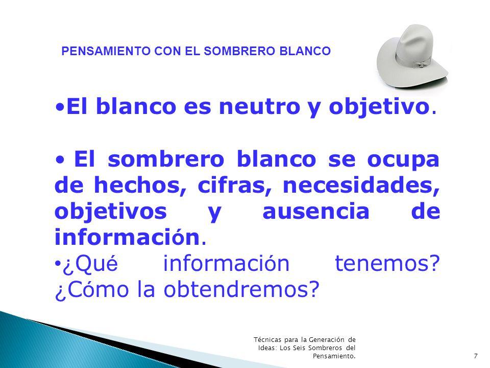 PENSAMIENTO CON EL SOMBRERO BLANCO