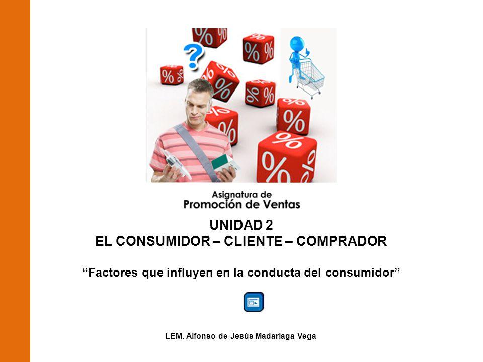UNIDAD 2 EL CONSUMIDOR – CLIENTE – COMPRADOR