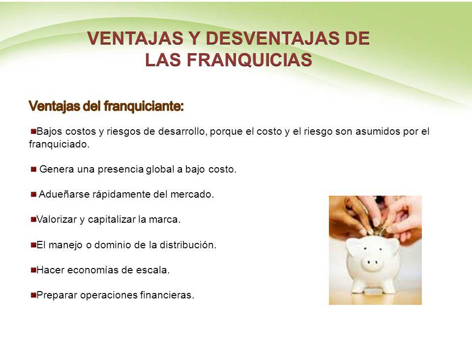 VENTAJAS Y DESVENTAJAS DE LAS FRANQUICIAS