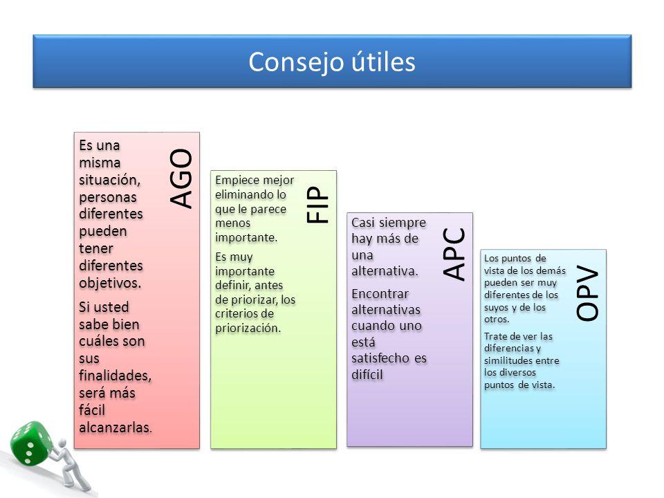 AGO FIP APC OPV Consejo útiles