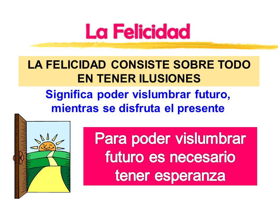 La Felicidad Para poder vislumbrar futuro es necesario tener esperanza