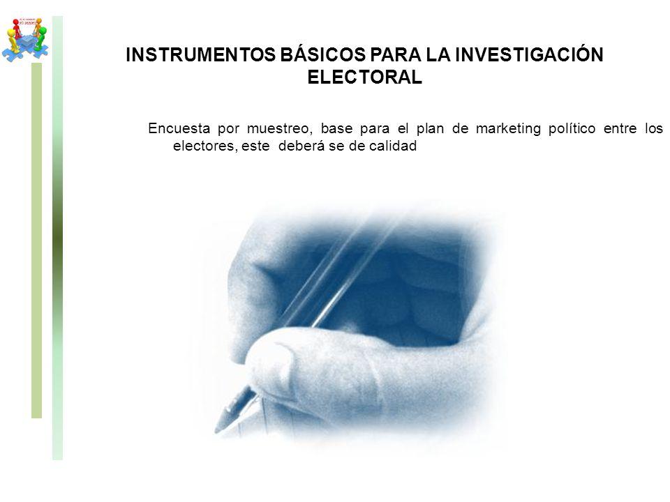 INSTRUMENTOS BÁSICOS PARA LA INVESTIGACIÓN ELECTORAL