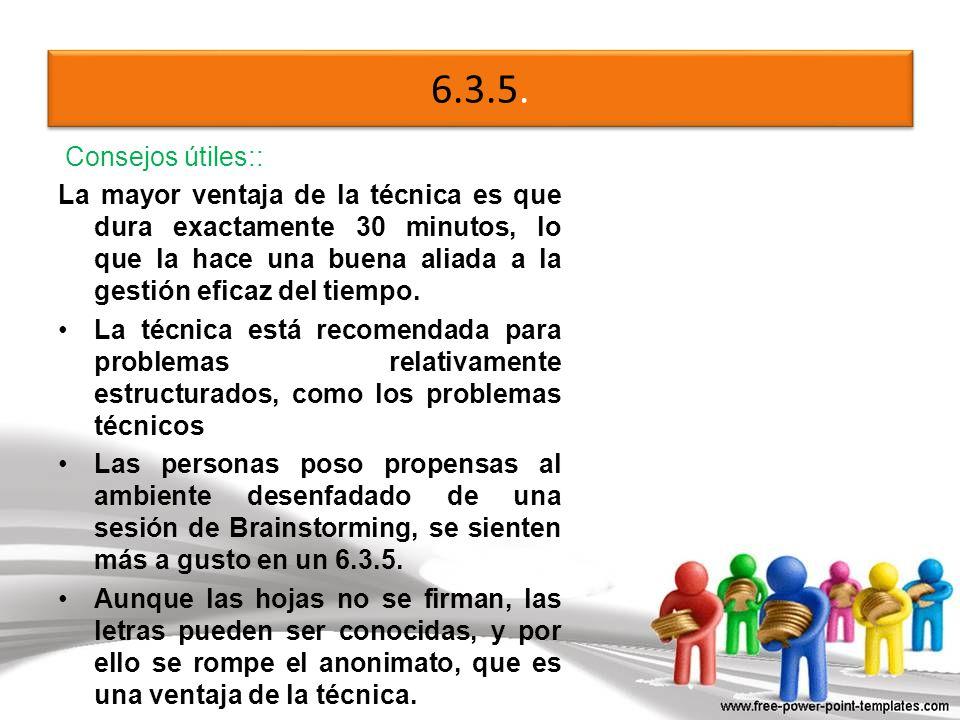 6.3.5. Consejos útiles::