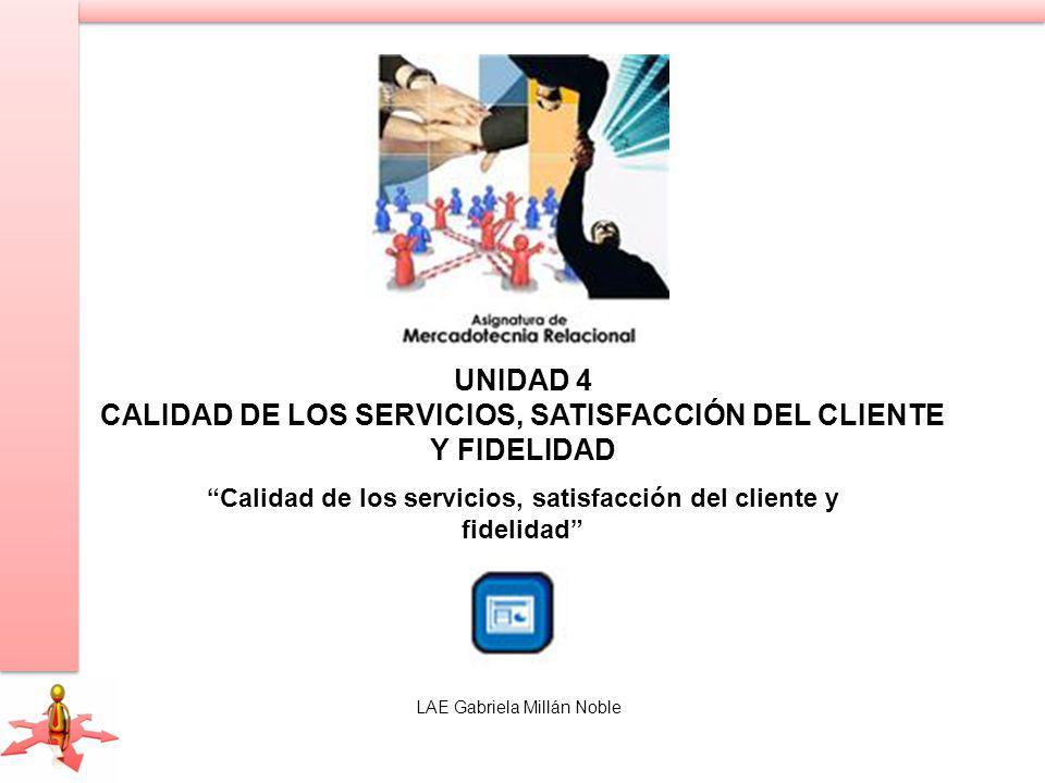 Calidad de los servicios, satisfacción del cliente y fidelidad