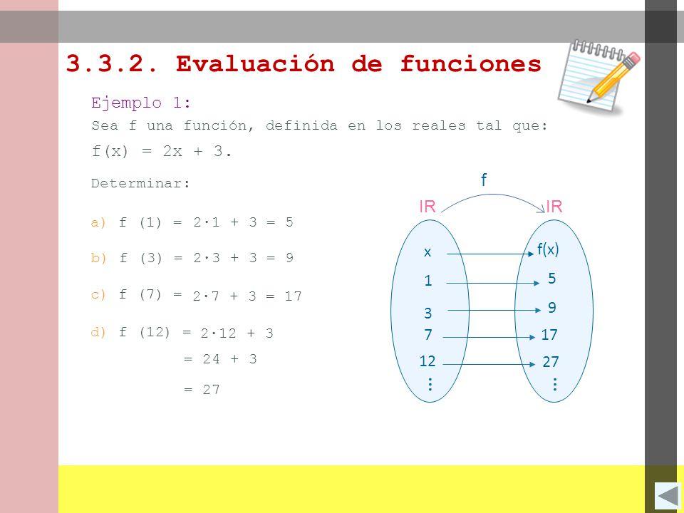 3.3.2. Evaluación de funciones