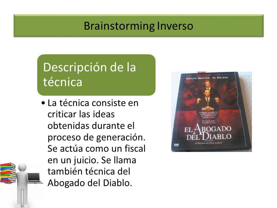 Brainstorming Inverso