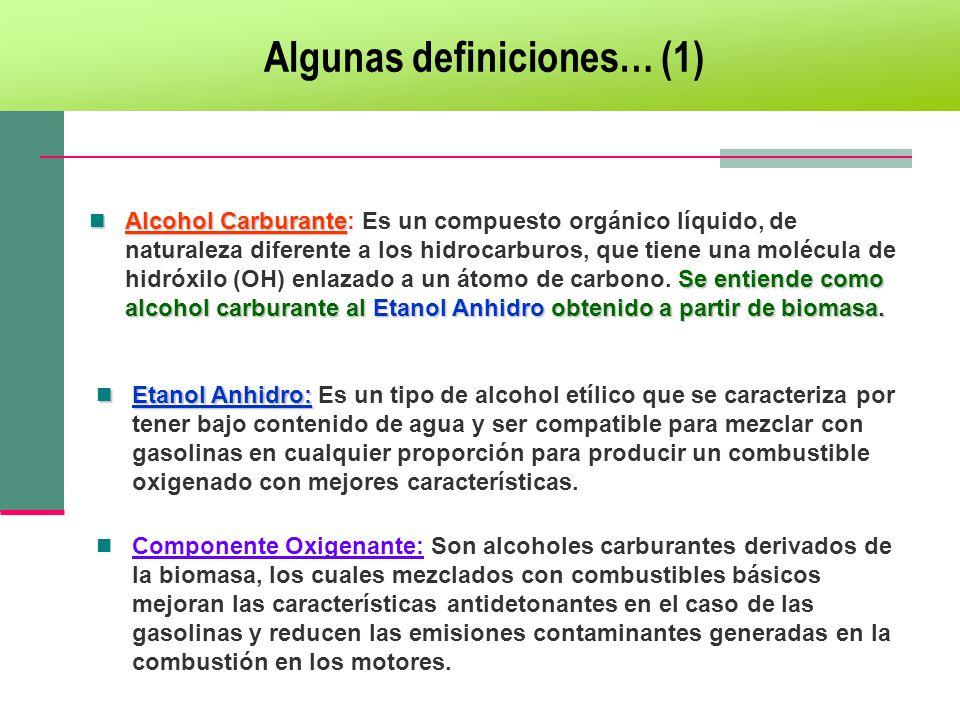 Algunas definiciones… (1)