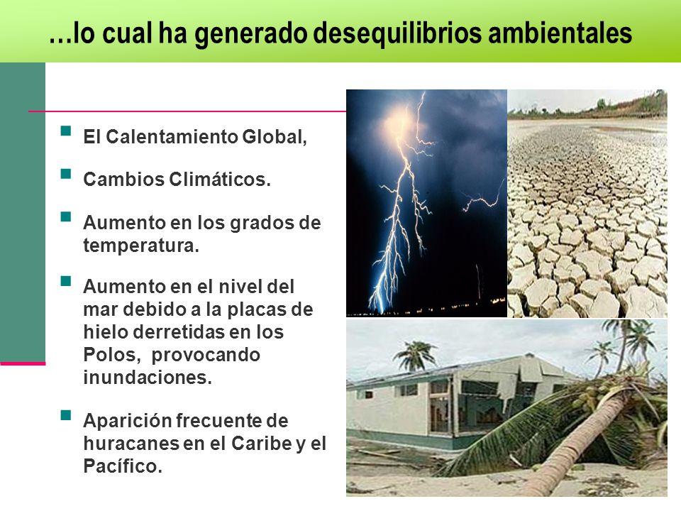 …lo cual ha generado desequilibrios ambientales