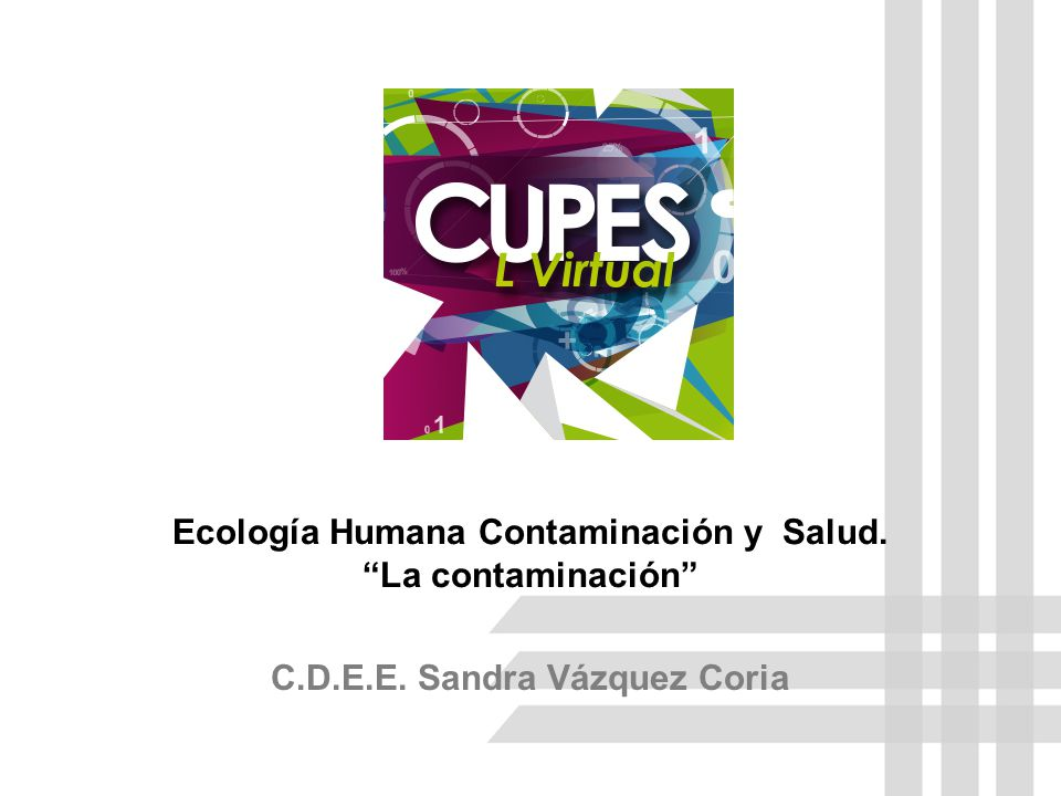 Ecología Humana Contaminación y Salud. La contaminación