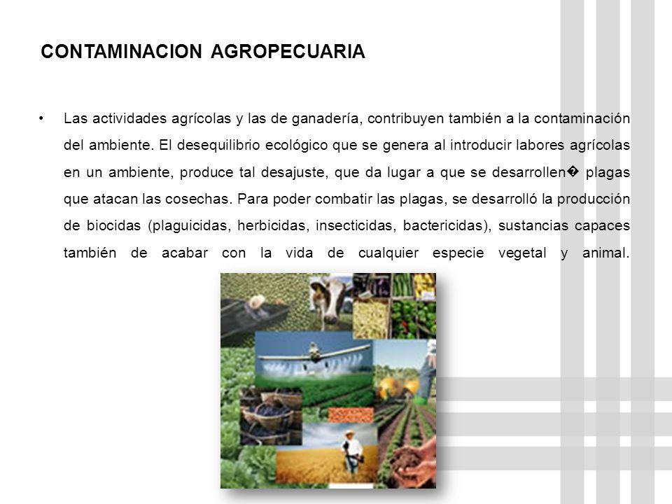CONTAMINACION AGROPECUARIA