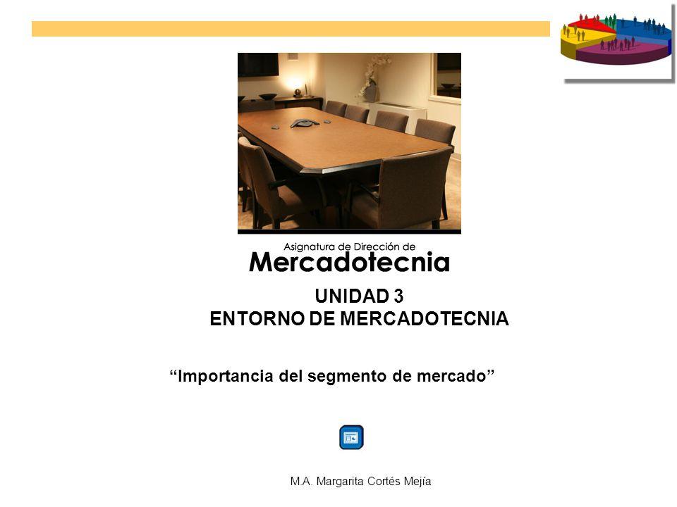 ENTORNO DE MERCADOTECNIA Importancia del segmento de mercado