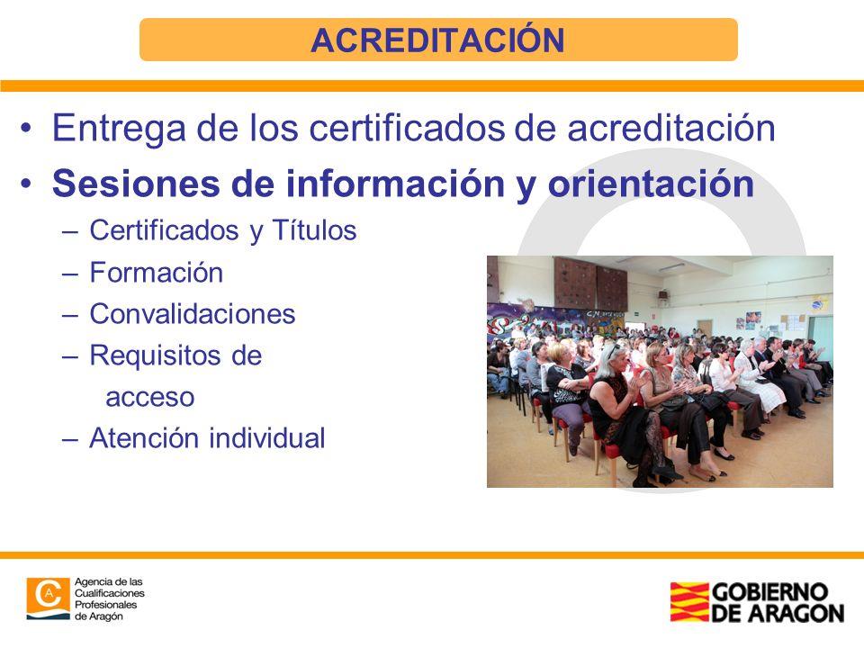 Entrega de los certificados de acreditación