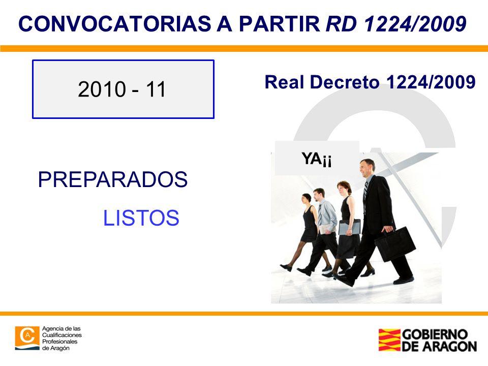 CONVOCATORIAS A PARTIR RD 1224/2009