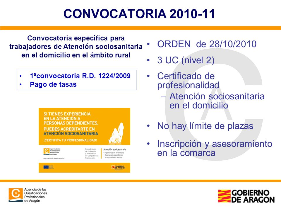 CONVOCATORIA ORDEN de 28/10/ UC (nivel 2)