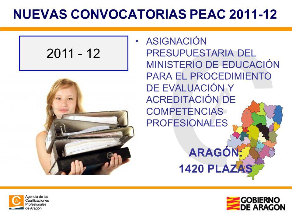 NUEVAS CONVOCATORIAS PEAC 2011-12