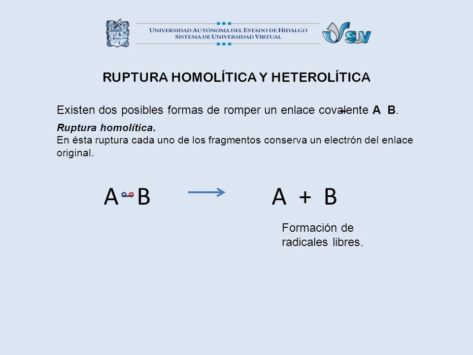 RUPTURA HOMOLÍTICA Y HETEROLÍTICA