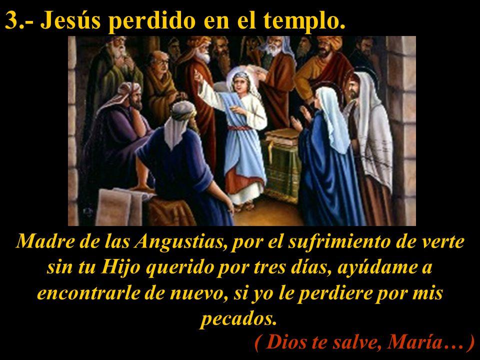 3.- Jesús perdido en el templo.