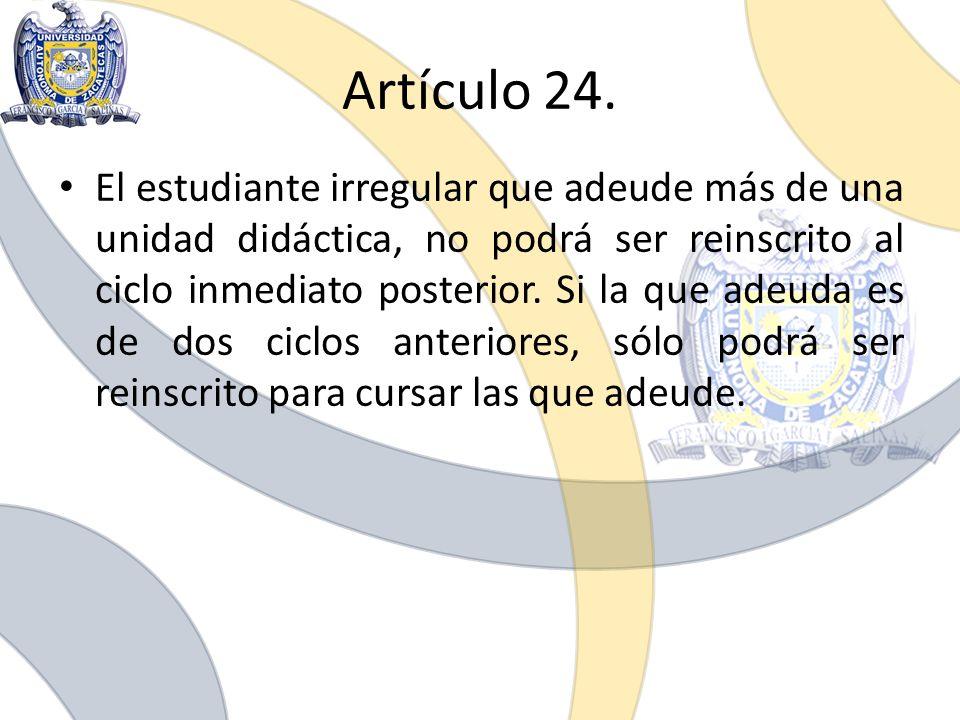 Artículo 24.