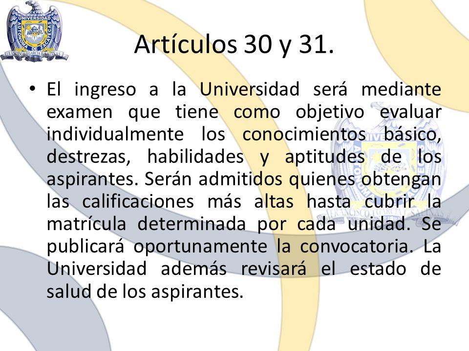 Artículos 30 y 31.